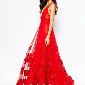 ISO this red plunge A Star Is Born Dress